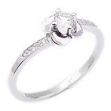 Кольцо в белом золоте с бриллиантами Единственная