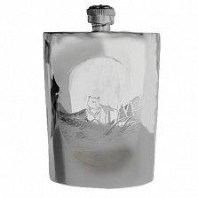 Серебряная фляга Тайга