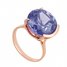 Золотое кольцо Аврея с неодимовым стеклом