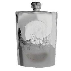 Серебряная фляга Тайга 000043558
