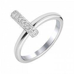 Серебряное кольцо с цирконием Swarovski 000103073