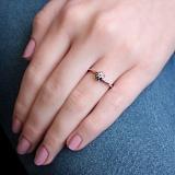 Помолвочное серебряное кольцо Я рядом с фианитом