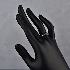 Серебряное кольцо Келли с сапфиром