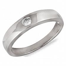 Кольцо из белого золота Солита с бриллиантом