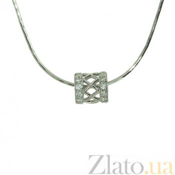 Серебряная подвеска с бриллиантами Дина 000027307