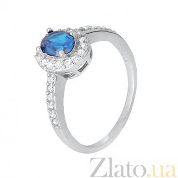 Серебряное кольцо с голубым фианитом Орлэйт SLX--КК2ФЛТ/376