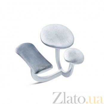 Серебряное открытое кольцо  AQA--К1-3ч