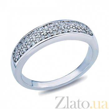 Серебряное кольцо с фианитами Белль AQA--R-0009-R