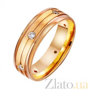 Золотое обручальное кольцо с фианитами Принцесса TRF--412873