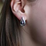 Серебряные серьги с бриллиантами Кортни
