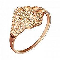 Серебряное кольцо Кружева с позолотой