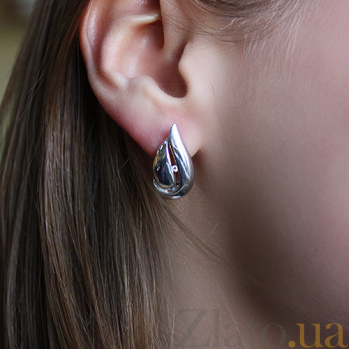 Серебряные серьги с бриллиантами Кортни 79200599