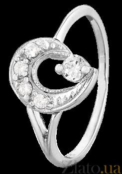 Серебряное кольцо с цирконием Пегги 000025829