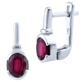 Серебряные серьги Орнелла с рубинами