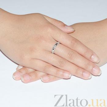 Золотое кольцо Льдинка с бриллиантом KBL--К1995/бел/брил