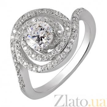 Серебряное кольцо с фианитами 32054