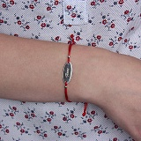 Шелковый браслет со вставкой Anna