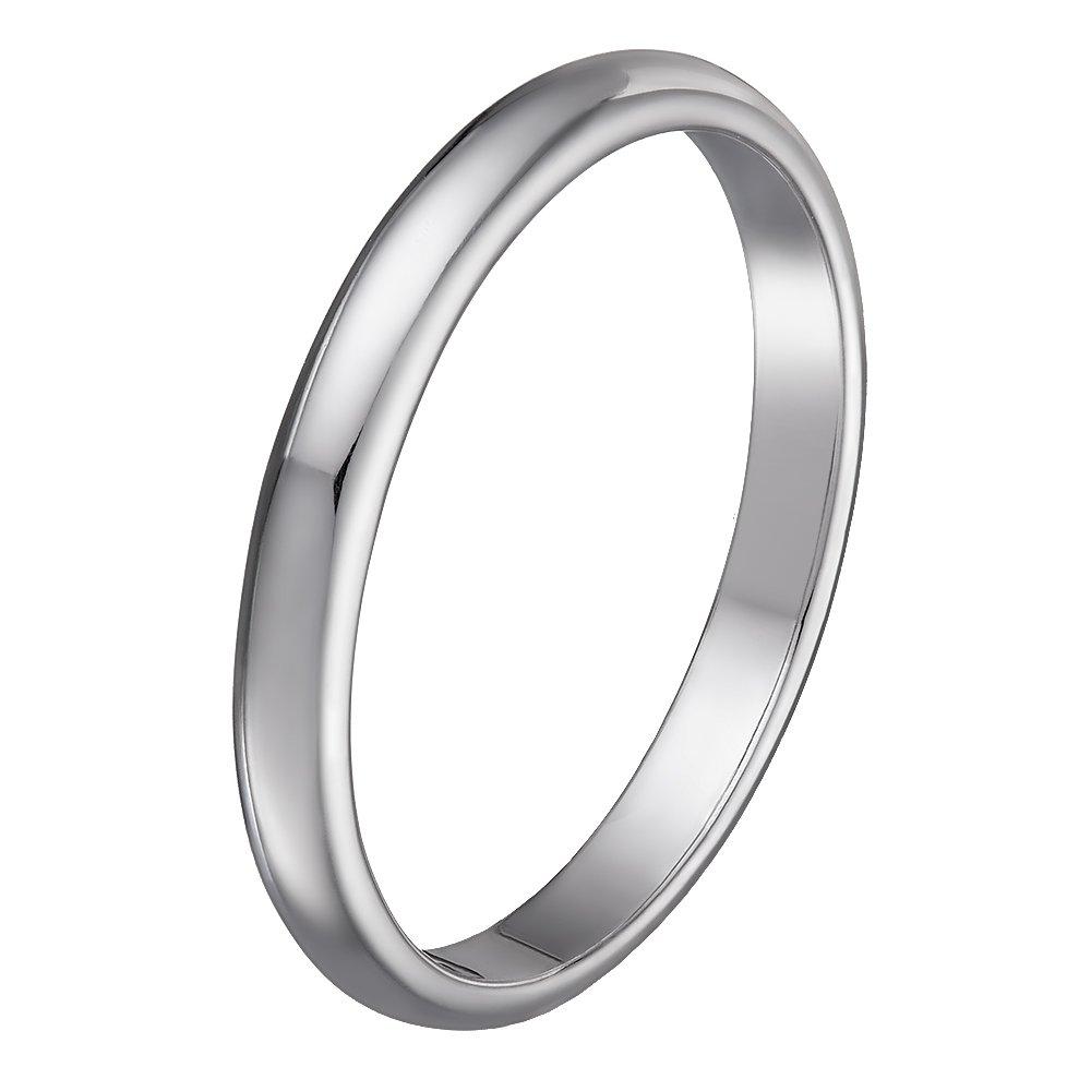 Золотое обручальное кольцо Slim Line в белом цвете