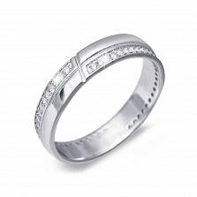 Кольцо серебряное с дорожкой из куб. циркония