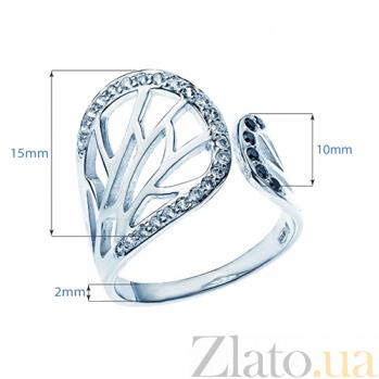 Серебряное кольцо с фианитами Бионика 000026981