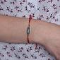 Шелковый браслет со вставкой Anna Anna