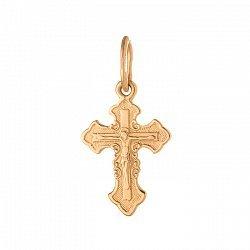 Золотой крестик Рыцарский на фигурной основе 000071593