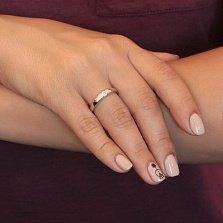 Серебряное кольцо Иоланта с цирконием SWAROVSKI ZIRCONIA