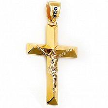 Крест из желтого золота Возвышение