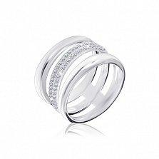 Серебряное кольцо Сагадат с цирконием