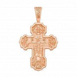 Православный крестик из красного золота 000129502