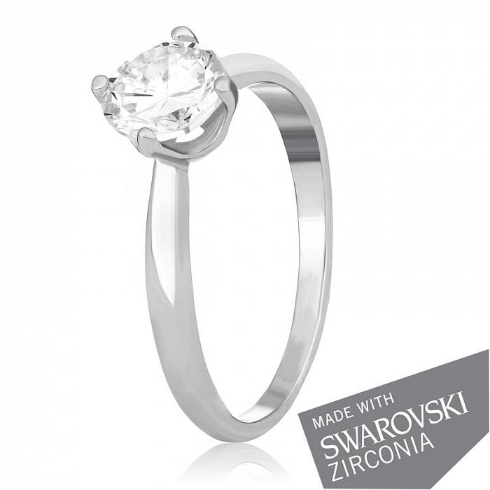 Серебряное кольцо Катарина с цирконием SWAROVSKI ZIRCONIA 000039541