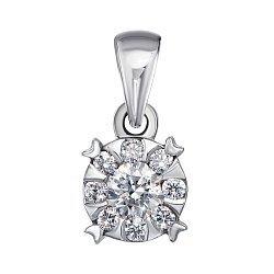 Кулон из белого золота с бриллиантами 000124883