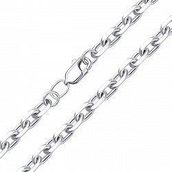 Серебряная цепочка в якорном плетении 000134798