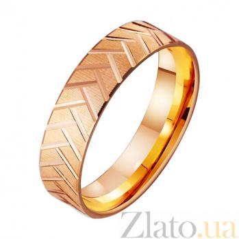 Золотое обручальное кольцо с алмазной гранью Сплетение TRF--4111255