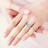 Кольцо с бриллиантами из белого золота Пробуждение радости