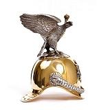 Серебряная рюмка Шлем с орлом