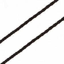 Кожаный шнурок Рафаэль с серебряным замком-закруткой