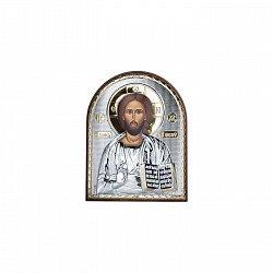 Икона Иисус Христос в серебре с позолотой 000015389