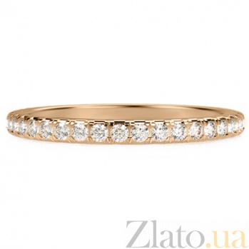 Обручальное кольцо из желтого золота с бриллиантами Вечное сияние 1254