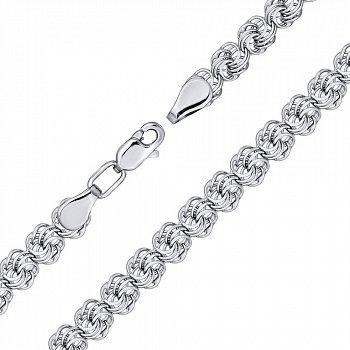 Серебряный браслет в плетении роза 000140484