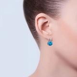 Серебряные серьги с голубым кварцем Аскания
