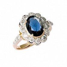 Золотое кольцо с сапфиром и бриллиантами Даниэла