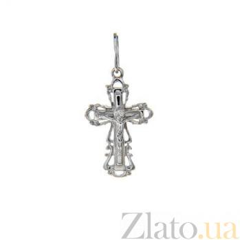 Серебряный крестик Глас Божий AQA--3108