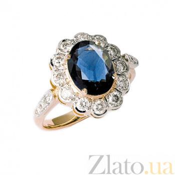 Золотое кольцо с сапфиром и бриллиантами Даниэла ZMX--RS-6281_K