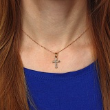 Серебряный крест Ника с евро позолотой и чернением