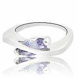 Серебряное кольцо с фианитом Элиса