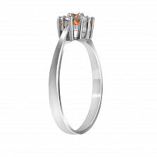 Кольцо из белого золота Нелли с цитринами и бриллиантами