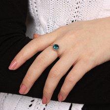 Золотое кольцо Атрис с фигурной шинкой и топазом лондон