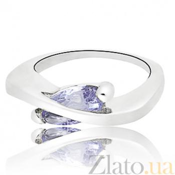 Серебряное кольцо с фианитом Элиса 10000126