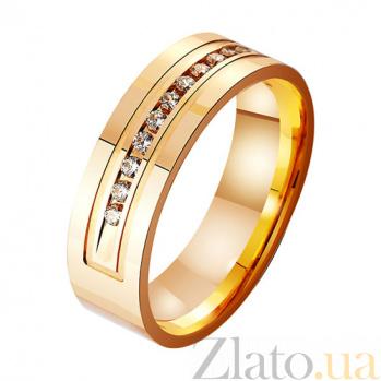 Золотое обручальное кольцо Статус с фианитами TRF--4121058